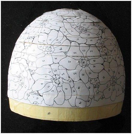 Lampshade pattern making