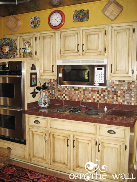 17 best images about kitchen on pinterest french country floors and painted kitchen cabinets - Painted country kitchen cabinets ...