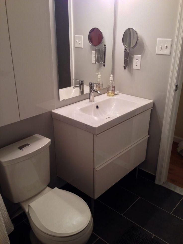 Best 25 Narrow Bathroom Vanities Ideas On Pinterest Master Bath Double Vanity And Center