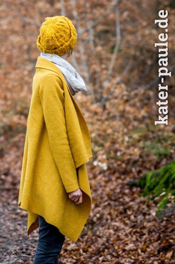 Mantel aus Wollwalk | Goldstück von Prints4Kids | DIY | Nähen für Erwachsene | Schnittmuster Mantel | Kater Paule näht