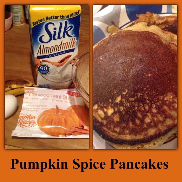 Advocare Pumpkin Spice Pancakes 2 pouches of Pumpkin Spice Meal replacement 1 egg 1 cup almond milk 1 mashed banana This made about 8 good sized pancakes