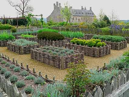 This reproduction of a medieval garden is really perfect.