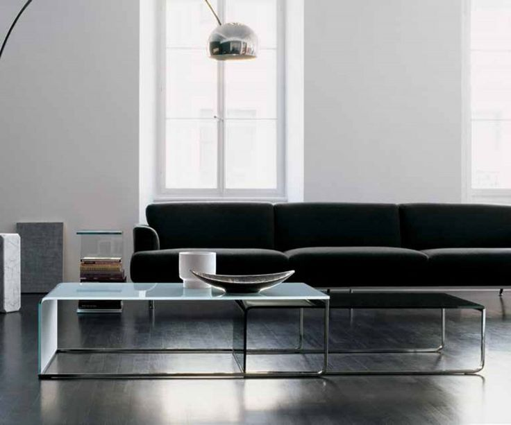Glass Coffee Table Nido Sovet Italia. Showns Larger Table With White Glass  Table Top Nesting