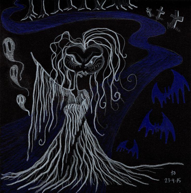 drawlloween day 1: ghost Tarnation - Like a Ghost