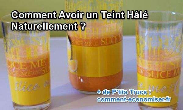 Envie d'être super bronzé avant l'été ? Facile, buvez un petit jus le matin au réveil et voici comment vous aurez un teint hâlé naturellement.   Découvrez l'astuce ici : http://www.comment-economiser.fr/avoir-un-teint-hale-naturellement.html?utm_content=buffer64e0a&utm_medium=social&utm_source=pinterest.com&utm_campaign=buffer