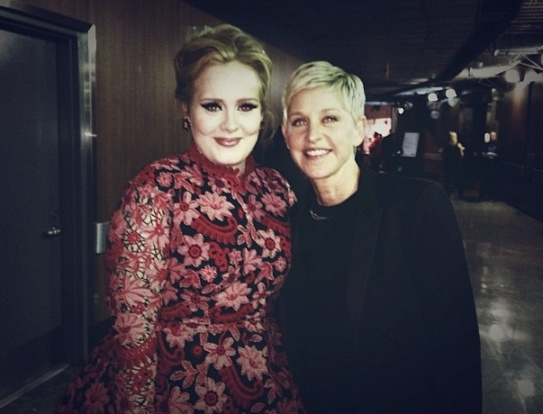 Ellen with Adele- Two of my MOST FAVORITE people<3