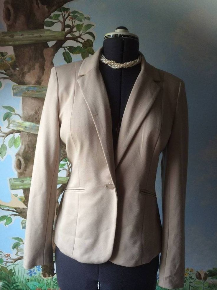 Grace Elements Women's Beige Suit Jacket Blazer Size 8 NWT #GraceElements #Blazer