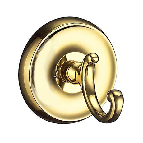 Smedbo Villa - Polished Brass Towel Hook - V255