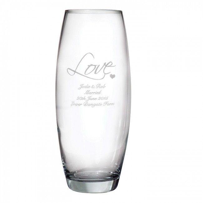 engraved vase