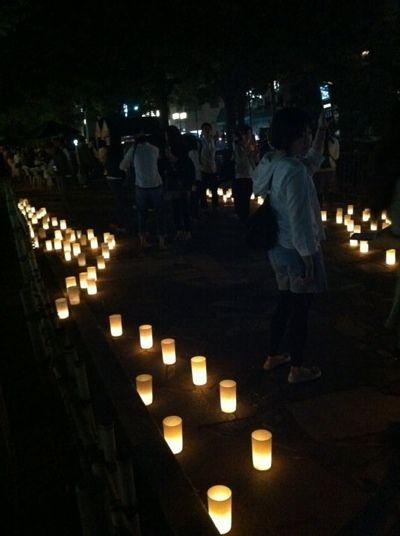 Okayama 岡山(おかやま) NPO法人タブララサ 西川キャンドルナイト2013 5月4日みどりの日