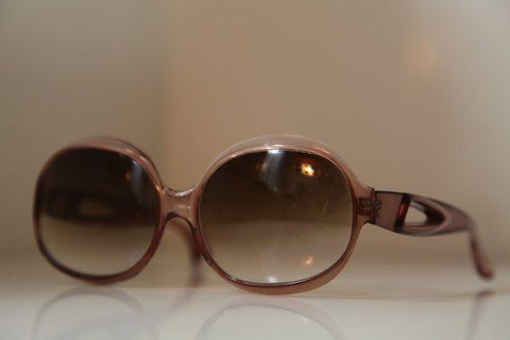 Vintage 70s Oversized Salmon Pink by LovelyVintageGlasses on Etsy, $55.00