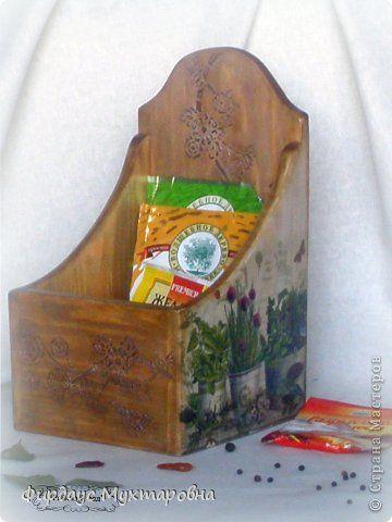 Декор предметов Мастер-класс Декупаж Лессировка по дереву Короб  Ароматы Дерево Салфетки фото 1