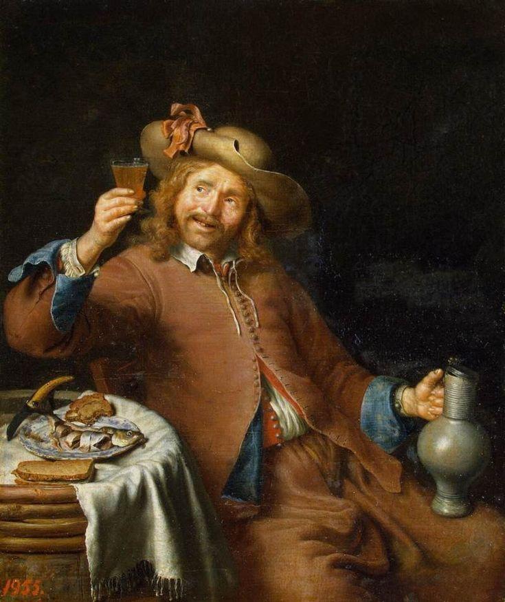 """""""Breakfast of a Young Man"""" by Pieter Cornelisz van Slingelandt (1640-1691)"""