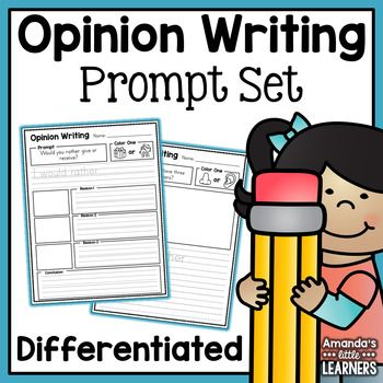 Opinion Writing Prompts for the Whole Year - With Editable Option This product includes everything you need to teach your students about opinion writing and continue practicing for the entire year with no prep! Start out teaching your