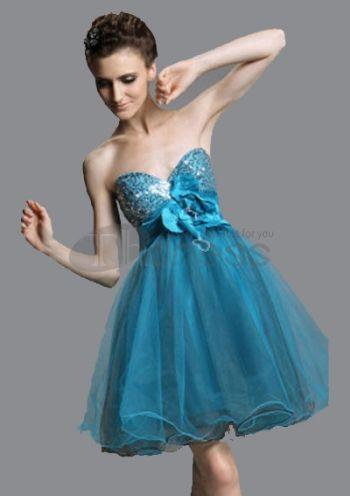 Abiti da Ballo Corti-Una linea una spalla senza maniche abiti da ballo corti