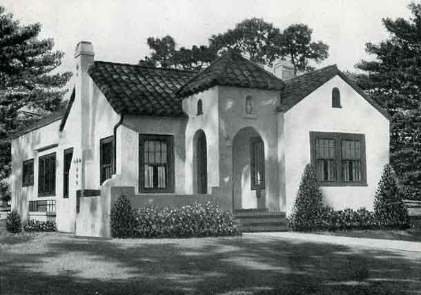 1926 Standard House Plans Mission Style Cottage