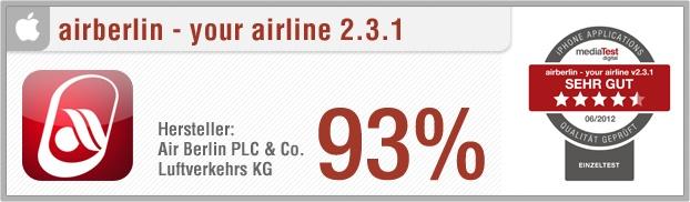 """App-Test: airberlin – your airline - Mit der iPhone App """"airberlin – your airline"""" lassen sich sowohl Ankunfts- und Abflugzeiten aller Airberlin Flüge sowie  aktuelle Angebote der Airline verfolgen und Buchungsvorgänge direkt durchführen. Außerdem kann der Benutzer über die App seinen Check-In online durchführen. Weitere Infos auf unserem Portal: http://www.apptesting.de"""