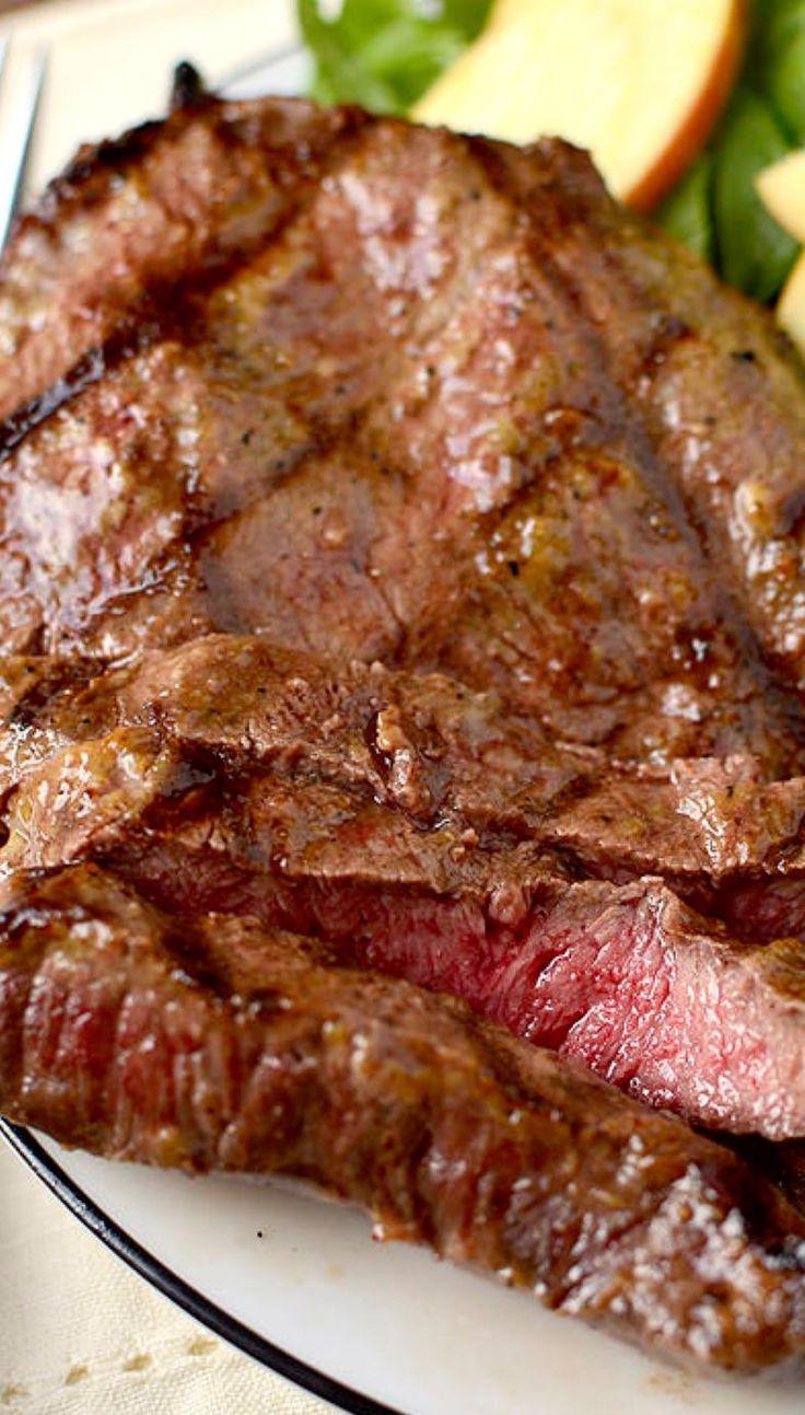 Dijon-Brown Sugar Marinated Steak Ingredients:  1lb steak (flat iron, flank, ribeye, tip)  1 Tablespoon virgin olive oil  2 Tablespoons dijon mustard  2 Tablespoons brown sugar  salt and pepper (lots)