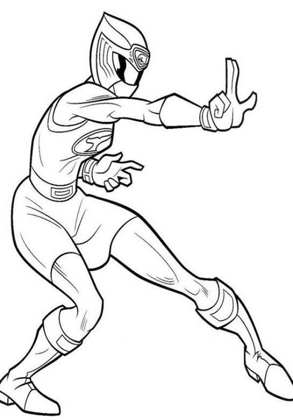Ninja Power Ranger coloring page for boys