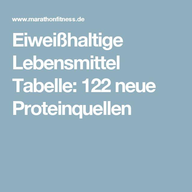 Eiweißhaltige Lebensmittel Tabelle: 122 neue Proteinquellen