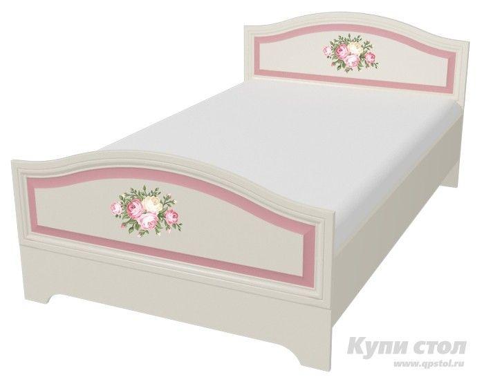 Кровать Алиса 120*200  Кровать из детской модульной серии Алиса.    Модульная система Алиса поможет сделать комнату мечты явью для маленькой любительницы сказок и волшебства. Нежная цветовая гамма с преобладанием зефирно-розового, изящные элементы оформления и изумительный, цветочный декор на каждом элементе модульной системы сделают детскую спальню цельной, наполненной упоительной магией детства.   Просторная кровать Алиса подарит маленькой принцессе чудесные ощущения во время сна. Не…