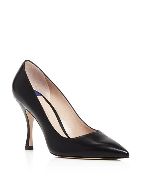 ae4d4d40e9 Stuart Weitzman - Women's Tippi Pointed Toe Leather High-Heel Pumps ...