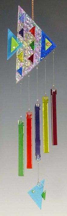 Back Porch Glass Angel Fish Windchime