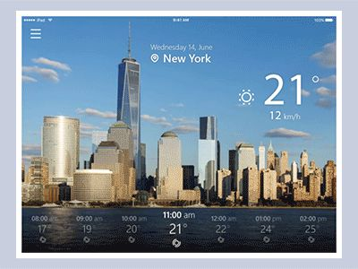 Weather App Animation by tubik