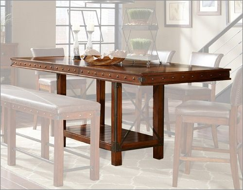Bar Height Dining Table Set Unique Leather And Bench