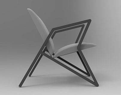 """Check out new work on my @Behance portfolio: """"Simplistic Lounge chair."""" http://be.net/gallery/53528997/Simplistic-Lounge-chair"""