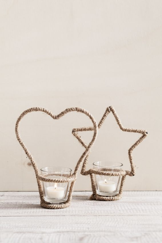 Velas que dicen mucho de ti... #estrella #corazón #sanvalentín #velas #cuerda #cristal #decoración #hogar #muymucho #detalles #regalos