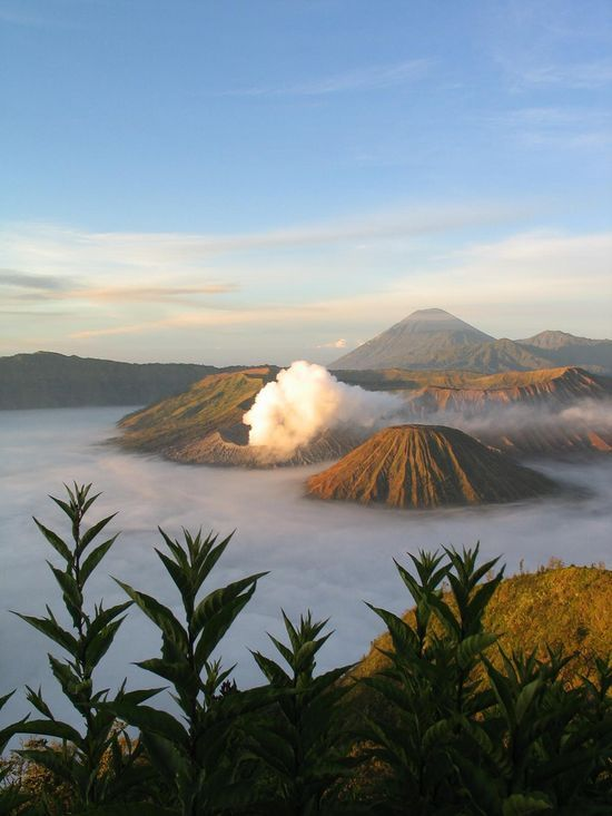 Mount Bromo Is an active volcano and part of the Tengger massif, in East Java, Indonesia. The volcano belongs to the Bromo Tengger Semeru National Park. The name of Bromo derived from Javanese pronunciation of Brahma, the Hindu creator god.