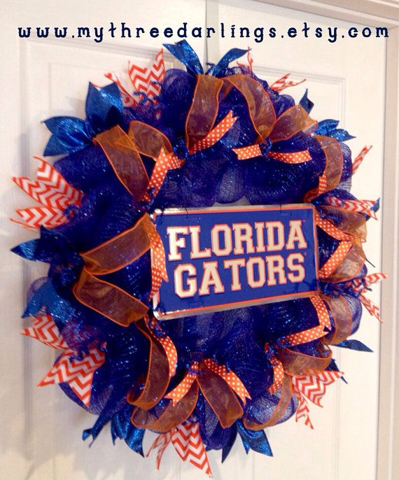 University Of Florida Gators Wreath Make This But Instead A License Plate Get