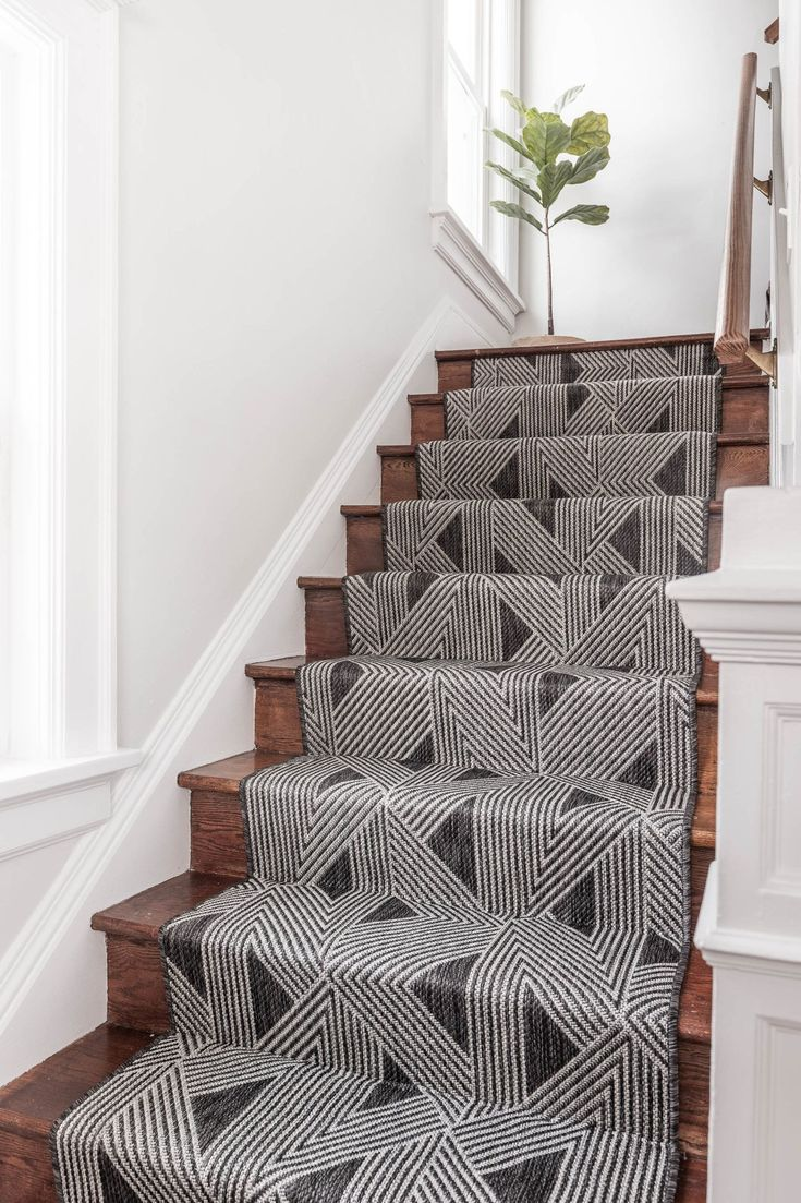 Best Home Decor Industrial Black And White Stair Runner On 400 x 300