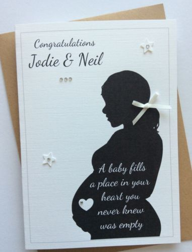 #Handmade #personalised baby shower/mum to be #pregnancy congratulations card, View more on the LINK: http://www.zeppy.io/product/gb/2/231865777732/