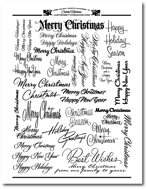 free holiday scripts: Holidays Scripts, Christmas Scripts, Scripts Fonts, Vintage Holiday, Free Holidays, Vintage Christmas Quotes, Merry Christmas Fonts, Free Printable, Jsim Holidayscript