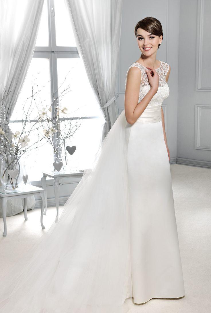 svatební šaty s odepínací vlečkou saténová sukně Agnes 14087