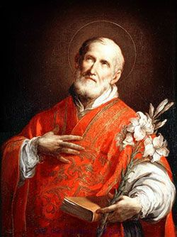 """St. Philip Neri, Roman Catholic Priest and known as the Apostle of Rome, founding a society of secular clergy called the """"Congregation of the Oratory"""". Feast May 26"""