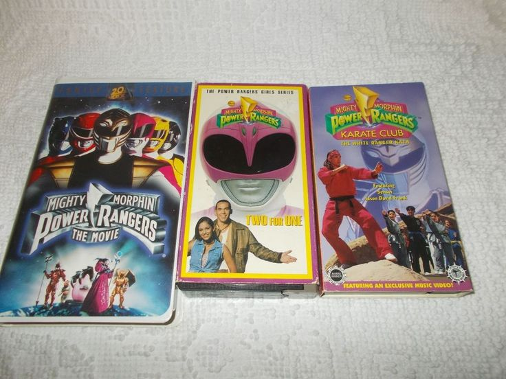 Mighty Morphin Power Rangers Lot Of 3 VHS Video Tapes The Movie Karate Club