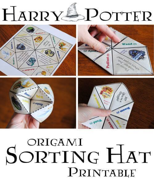 Harry Potter Origami Sorting Hat