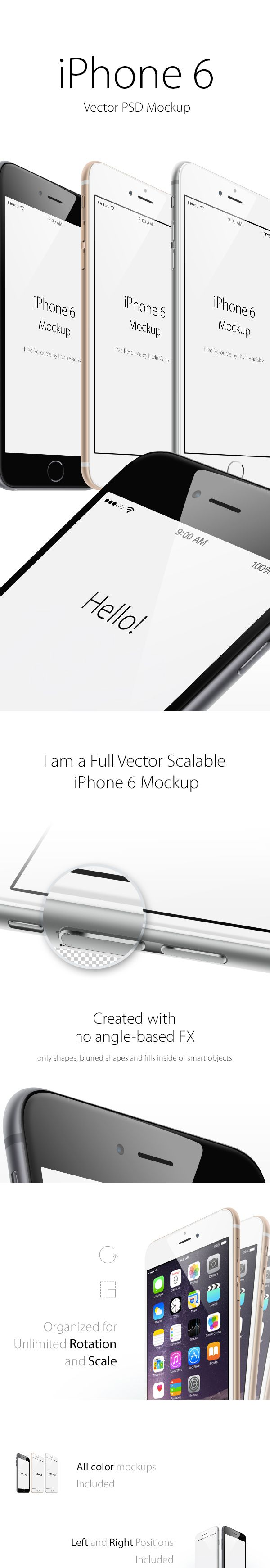 iPhone 6 Plus Angle View MockUp | GraphicBurger