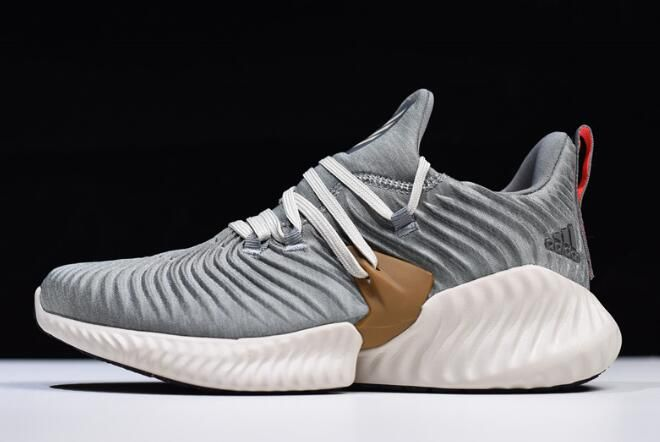 pretty nice 25dfd b760a adidas AlphaBounce Instinct CC M Grey White Running Shoes B76038