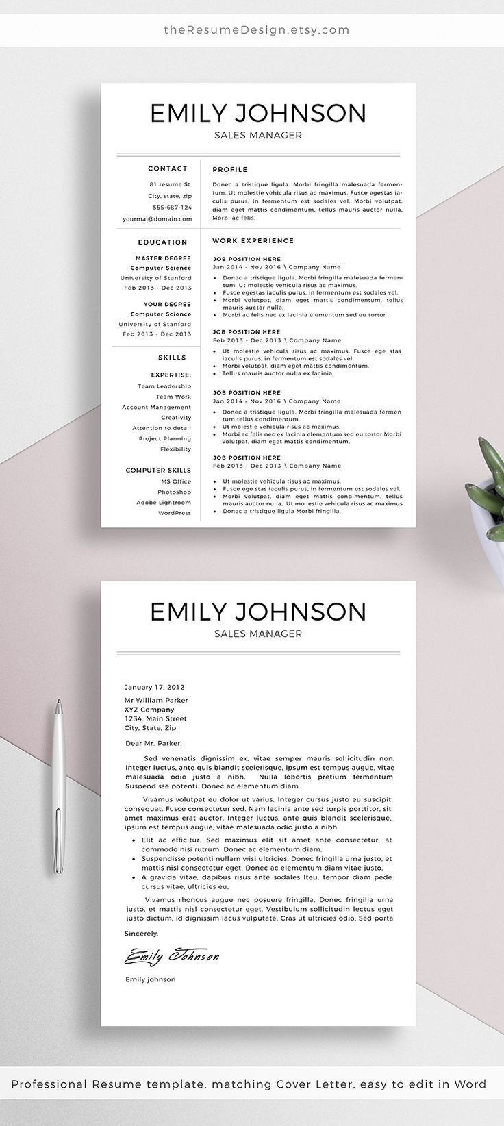 Best ResumeCover LetterPortfolio Images On   Cv