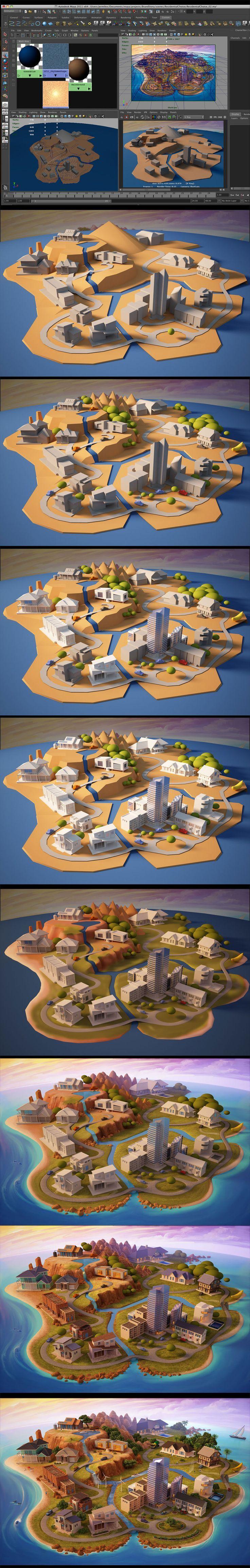 Res Choice 3D process by *jermilex on deviantART - 3D Typography Design Modelling