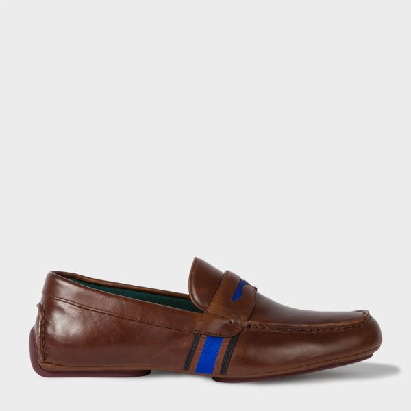 Men's Brown Leather 'Ride' Driving Shoes