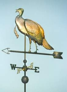 Turkey Weather Vane, Standing Wild Turkey by West Coast Weather Vanes.