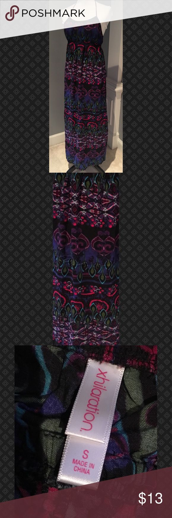 Multi-colored Halter Sundress Multi-colored Halter Sundress Xhilaration Dresses Maxi