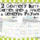 Help your students practice identifying geometric terms using these fun and interactive partner Bump games!  The only materials needed are two dice...