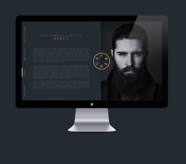 FRENCH / Branding. Web. Package design. Music by William Stormdal, via Behance