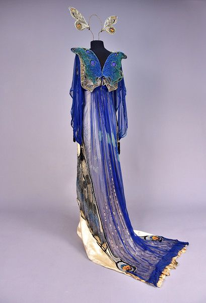 Butterfly Fancy Dress Gown (image 2) | House of Worth | France; Paris | 1912 | silk charmeuse, chiffon, tulle, lace, velvet, paste jewels | Whitaker Auctions | Spring 2017